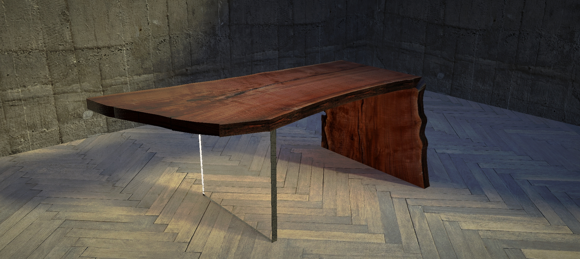 Walnut Waterfall Desk By Virginia Build Works For Kenneth Byrd Designs With Bratthaus